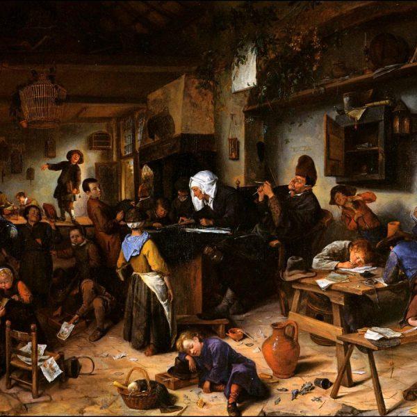 Une salle de classe - Tableau de Jan Steen