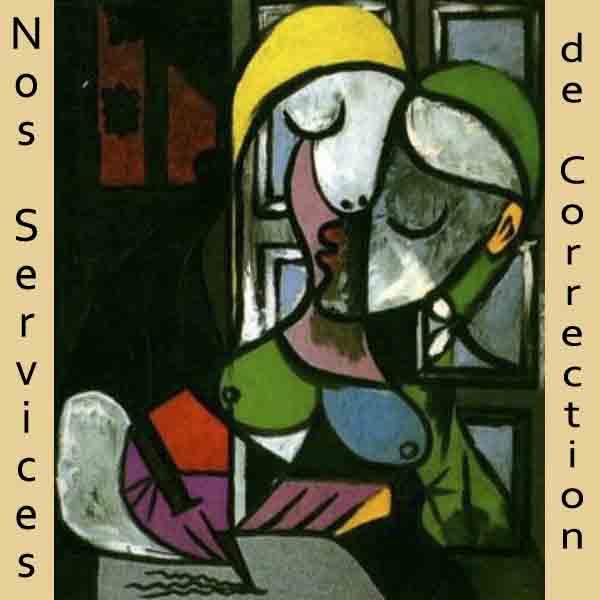 Femme ecrivant. Tableau de Picasso